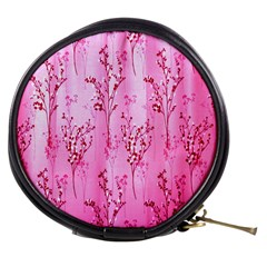 Pink Curtains Background Mini Makeup Bags