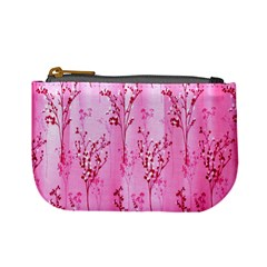 Pink Curtains Background Mini Coin Purses