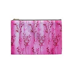 Pink Curtains Background Cosmetic Bag (medium)