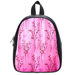 Pink Curtains Background School Bags (small)