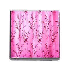 Pink Curtains Background Memory Card Reader (square)
