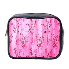 Pink Curtains Background Mini Toiletries Bag 2-Side