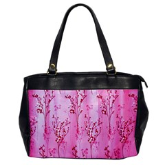 Pink Curtains Background Office Handbags