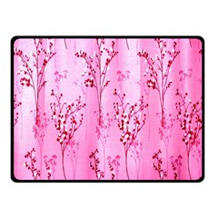 Pink Curtains Background Fleece Blanket (Small)
