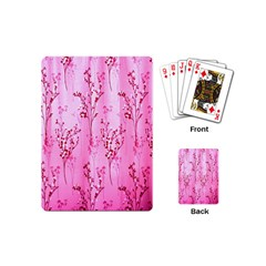 Pink Curtains Background Playing Cards (mini)