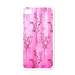 Pink Curtains Background Apple iPhone 4 Case (White)
