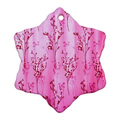Pink Curtains Background Ornament (snowflake)