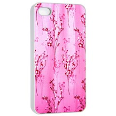 Pink Curtains Background Apple Iphone 4/4s Seamless Case (white)