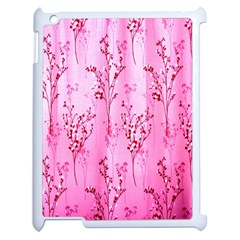 Pink Curtains Background Apple Ipad 2 Case (white)