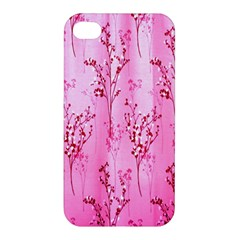 Pink Curtains Background Apple Iphone 4/4s Hardshell Case