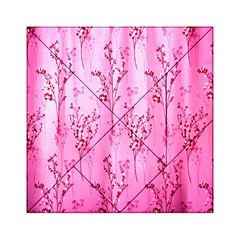 Pink Curtains Background Acrylic Tangram Puzzle (6  x 6 )