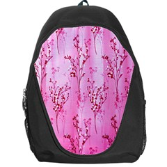 Pink Curtains Background Backpack Bag