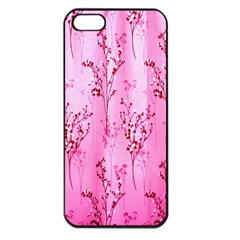 Pink Curtains Background Apple Iphone 5 Seamless Case (black)