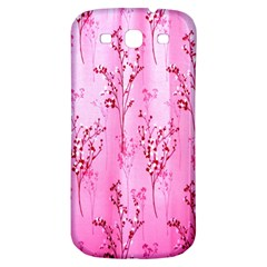 Pink Curtains Background Samsung Galaxy S3 S III Classic Hardshell Back Case