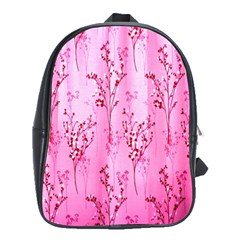 Pink Curtains Background School Bags (xl)