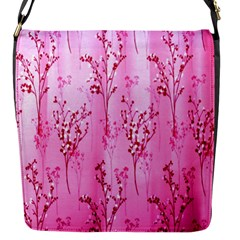 Pink Curtains Background Flap Messenger Bag (s)