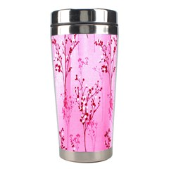 Pink Curtains Background Stainless Steel Travel Tumblers