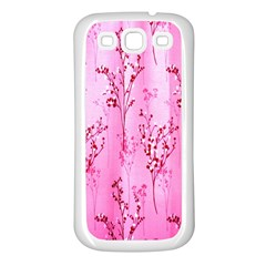 Pink Curtains Background Samsung Galaxy S3 Back Case (white)