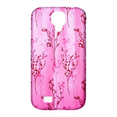 Pink Curtains Background Samsung Galaxy S4 Classic Hardshell Case (pc+silicone)