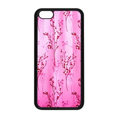Pink Curtains Background Apple Iphone 5c Seamless Case (black)