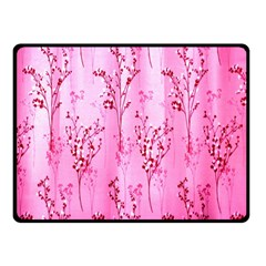 Pink Curtains Background Double Sided Fleece Blanket (small)