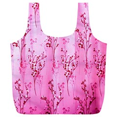 Pink Curtains Background Full Print Recycle Bags (l)