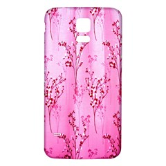 Pink Curtains Background Samsung Galaxy S5 Back Case (white)