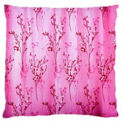 Pink Curtains Background Standard Flano Cushion Case (two Sides)
