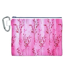 Pink Curtains Background Canvas Cosmetic Bag (L)