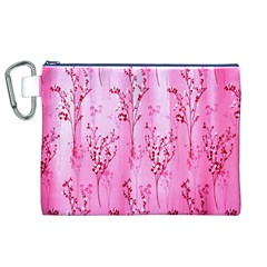 Pink Curtains Background Canvas Cosmetic Bag (xl)