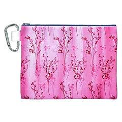 Pink Curtains Background Canvas Cosmetic Bag (xxl)