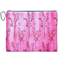 Pink Curtains Background Canvas Cosmetic Bag (xxxl)