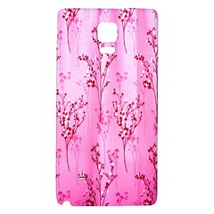 Pink Curtains Background Galaxy Note 4 Back Case