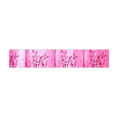 Pink Curtains Background Flano Scarf (mini)