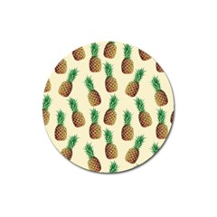 Pineapple Wallpaper Pattern Magnet 3  (Round)
