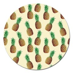 Pineapple Wallpaper Pattern Magnet 5  (Round)