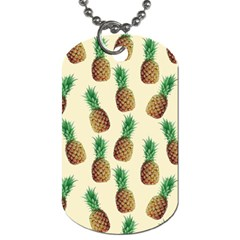 Pineapple Wallpaper Pattern Dog Tag (Two Sides)