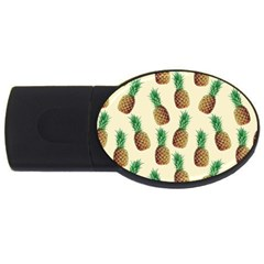 Pineapple Wallpaper Pattern USB Flash Drive Oval (2 GB)