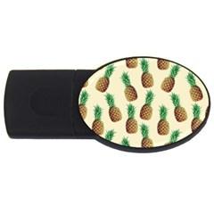 Pineapple Wallpaper Pattern USB Flash Drive Oval (1 GB)