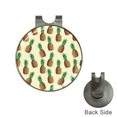 Pineapple Wallpaper Pattern Hat Clips with Golf Markers