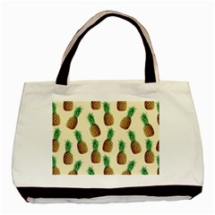 Pineapple Wallpaper Pattern Basic Tote Bag
