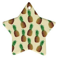 Pineapple Wallpaper Pattern Star Ornament (Two Sides)