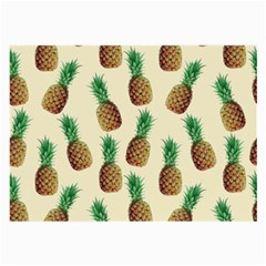 Pineapple Wallpaper Pattern Large Glasses Cloth (2-Side)
