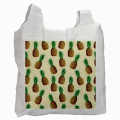 Pineapple Wallpaper Pattern Recycle Bag (two Side)