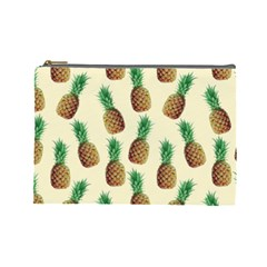 Pineapple Wallpaper Pattern Cosmetic Bag (Large)