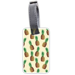 Pineapple Wallpaper Pattern Luggage Tags (One Side)