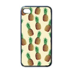 Pineapple Wallpaper Pattern Apple iPhone 4 Case (Black)