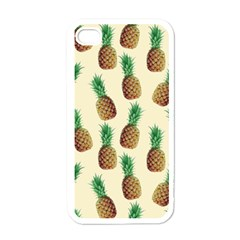 Pineapple Wallpaper Pattern Apple iPhone 4 Case (White)