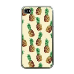Pineapple Wallpaper Pattern Apple Iphone 4 Case (clear)