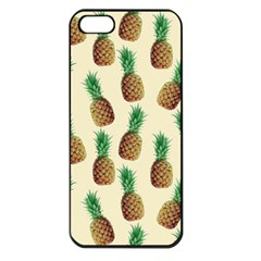 Pineapple Wallpaper Pattern Apple iPhone 5 Seamless Case (Black)